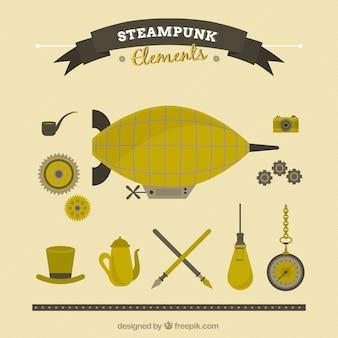 Flat steampunk things