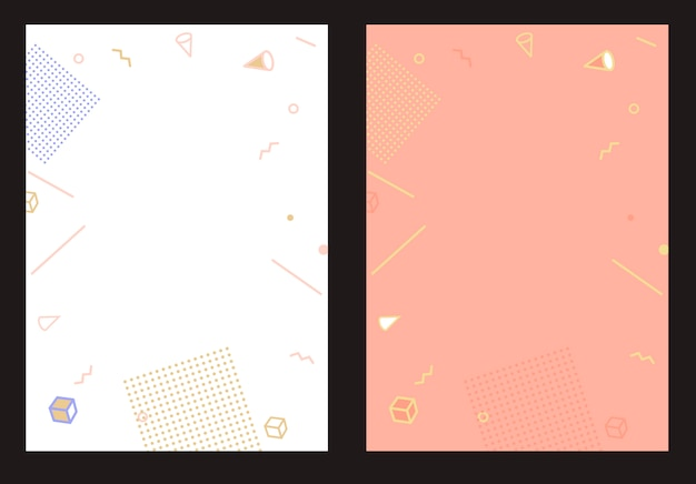Flat style abstract geometric design template for banner