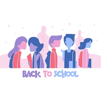 Flat style back to school simple cartoon