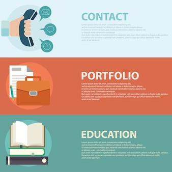 Flat style business portfolio