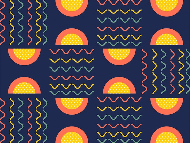 Flat style colorful abstract seamless pattern