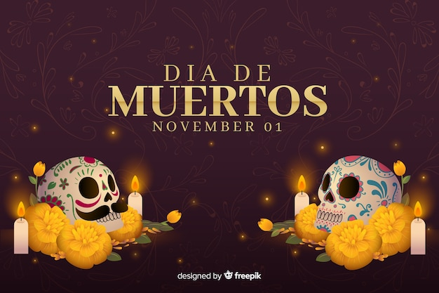 Flat style day of the dead background