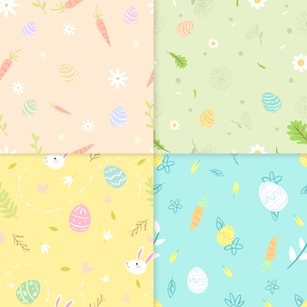 Flat style easter day pattern