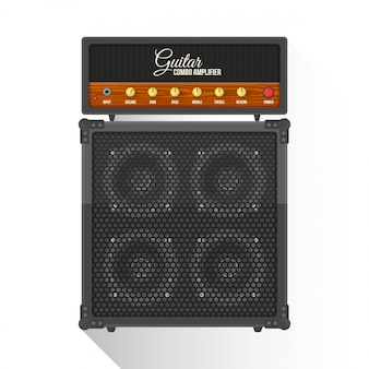 Flat style electric guitar combo amplifier cabinet  icon
