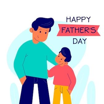 Flat style father's day celebration