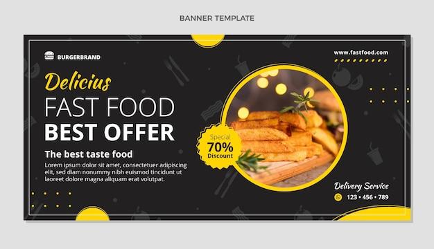 Плоский баннер продажи еды