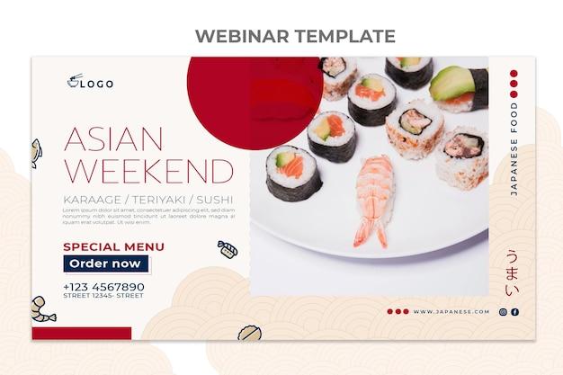 Modello di webinar sul cibo in stile piatto