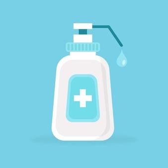 Flat style hand sanitizer