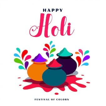 Flat style happy holi celebration background