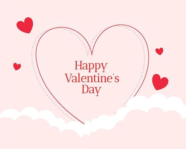 Bello fondo felice di giorno di biglietti di s. valentino di stile piano