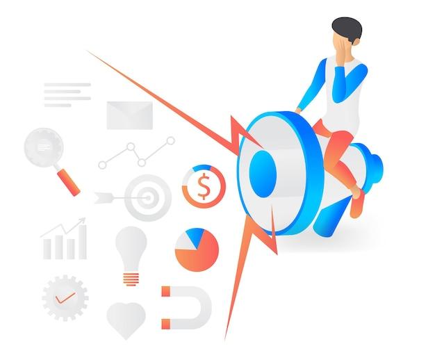 Flat style illustration about business marketing strategy