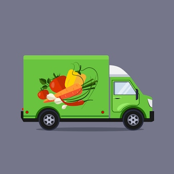 Flat style illustration delivery service concept