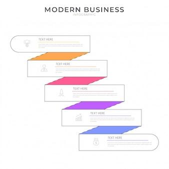 編集可能なテキストとフラットスタイルインフォグラフィックデザイン組織図プロセステンプレート
