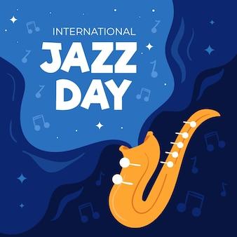 Flat style international jazz day