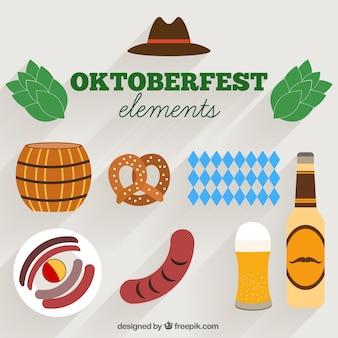 Flat style items for oktoberfest