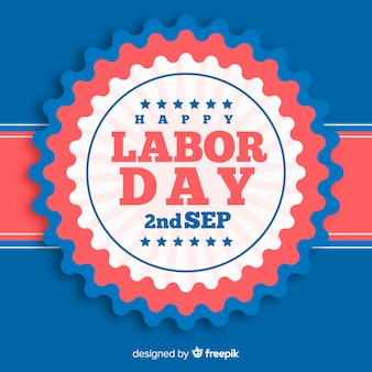 Flat style labor day background