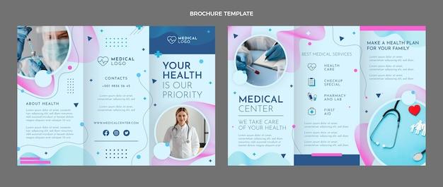 Шаблон медицинской брошюры в плоском стиле