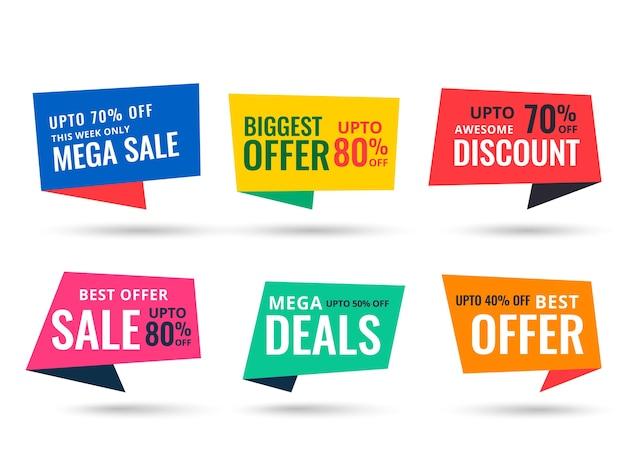 Design piatto stile mega vendita banner modello