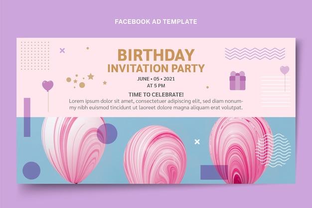 Flat style minimal facebook birthday