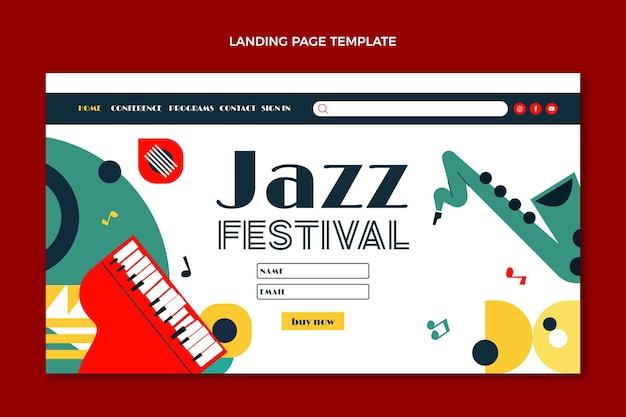 Flat styleminimal music festival landing page template