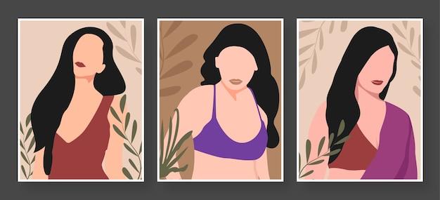 Flat style premium vector girl illustration design - girl avatar