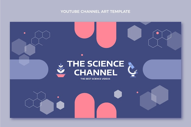 Flat style science youtube channel