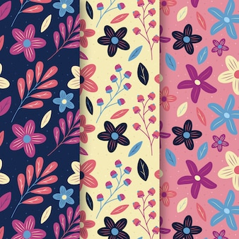 Flat style spring pattern collection