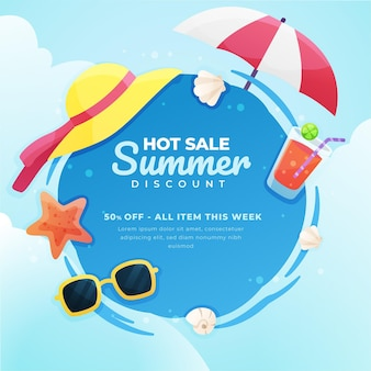 Flat style summer sale
