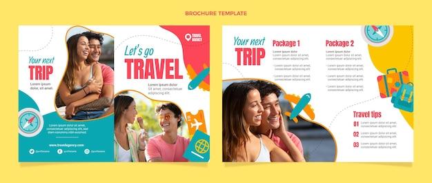 Flat style travel brochure