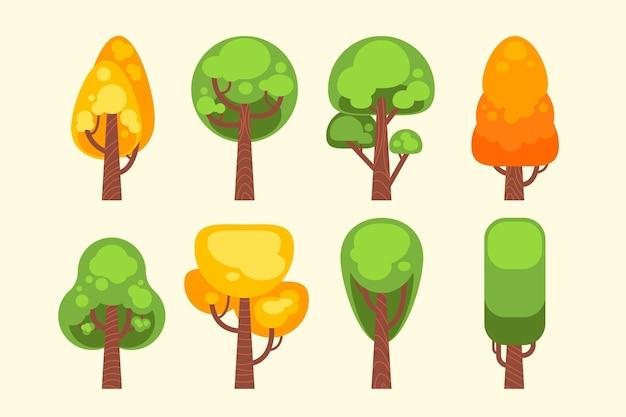 フラットスタイルタイプの木