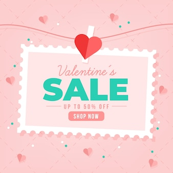 Flat style valentine's day sale with discount