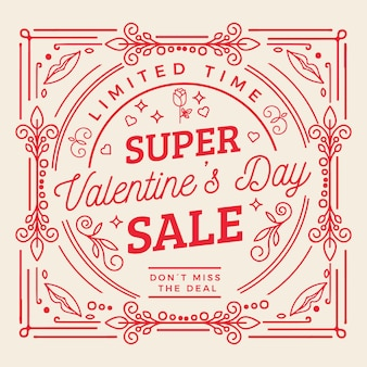 Flat style valentine's day sale