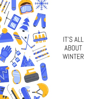 Flat style winter sports equipment and attributes