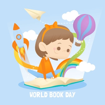 Flat style world book day event