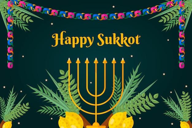 Flat sukkot background