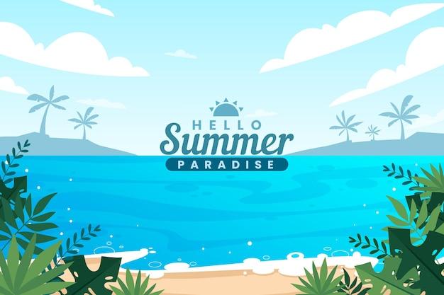 Плоский летний дизайн фона