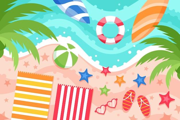 Плоский летний фон для видеозвонков