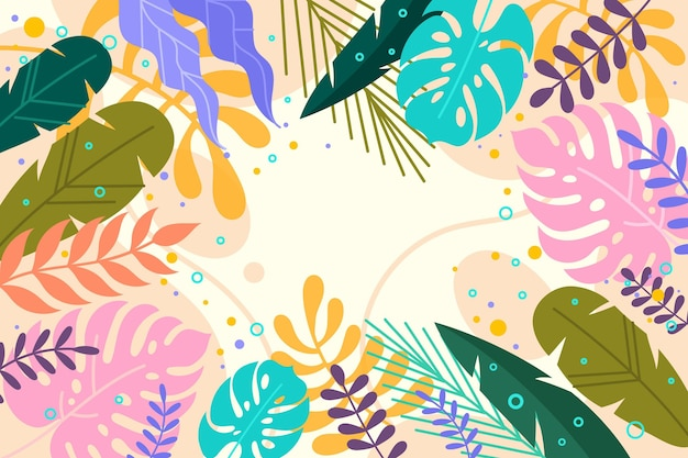Flat summer background for videocalls Free Vector