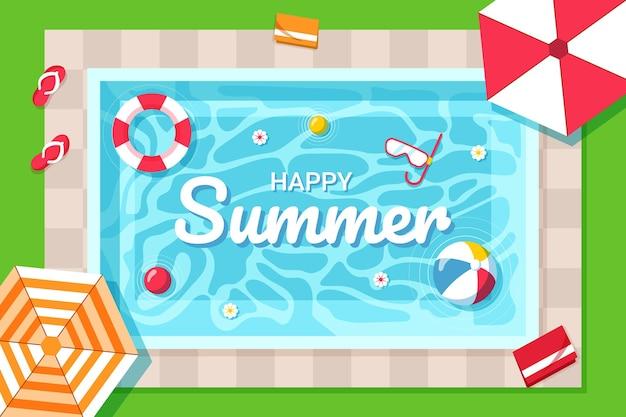 Плоский летний фон