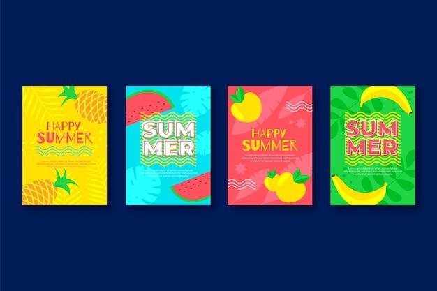 Modello di raccolta carta estate piatta