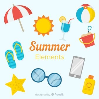 Flat summer element collection