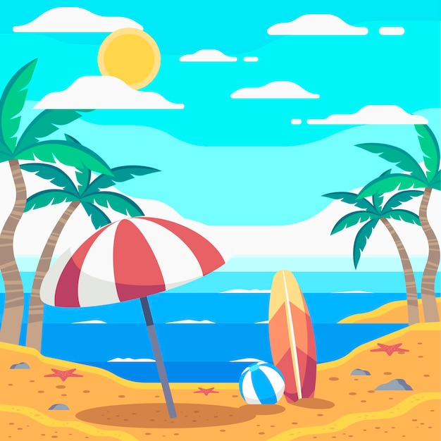Flat summer illustration