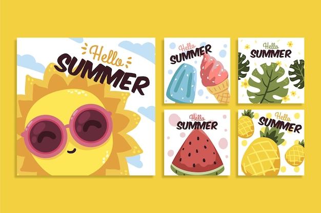 사진이있는 평평한 여름 instagram 게시물 모음