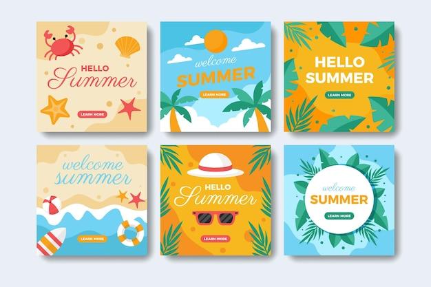평평한 여름 instagram 게시물 모음