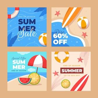 フラットな夏のinstagramの投稿コレクション