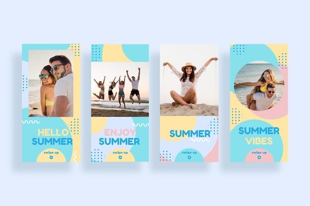Коллекция летних историй instagram с фото