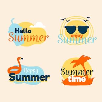Concetto di etichette estate piatta