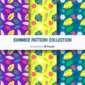 Flat summer pattern collection