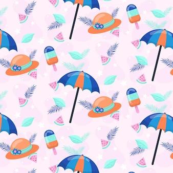 평평한 여름 패턴