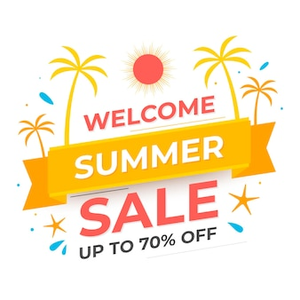플랫 여름 판매 그림
